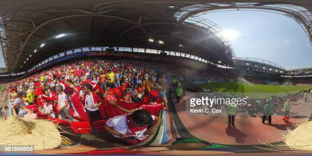 General view inside the stadium prior to the 2018 FIFA World Cup Russia group G match between Belgium and Tunisia at Spartak Stadium on June 23 2018...