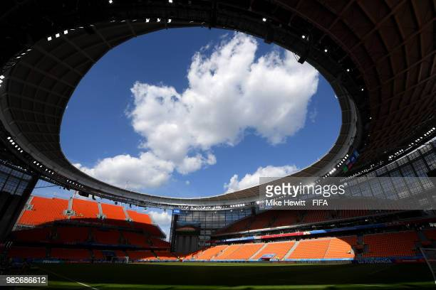 General view inside the stadium prior to the 2018 FIFA World Cup Russia group H match between Japan and Senegal at Ekaterinburg Arena on June 24 2018...