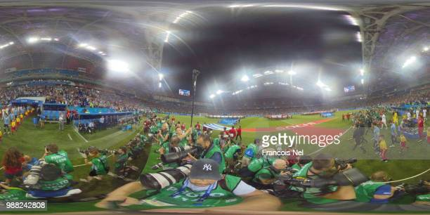 General view inside the stadium prior to the 2018 FIFA World Cup Russia Round of 16 match between Uruguay and Portugal at Fisht Stadium on June 30...