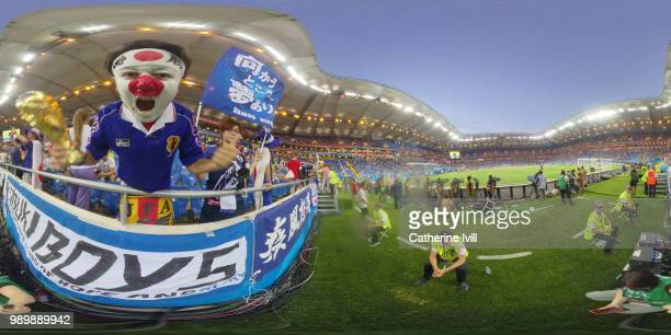 General view inside the stadium prior to the 2018 FIFA World Cup Russia Round of 16 match between Belgium and Japan at Rostov Arena on July 2 2018 in...