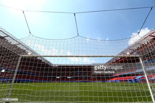 General view inside the stadium prior to the 2019 FIFA Women's World Cup France group E match between Netherlands and Cameroon at Stade du Hainaut on...