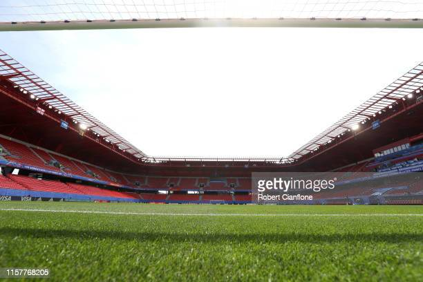 General view inside the stadium prior to the 2019 FIFA Women's World Cup France Round Of 16 match between England and Cameroon at Stade du Hainaut on...