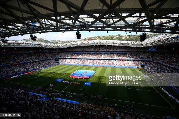 General view inside the stadium prior to the 2019 FIFA Women's World Cup France 3rd Place Match match between England and Sweden at Stade de Nice on...