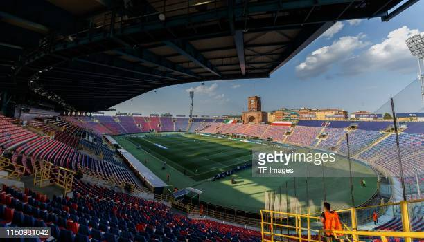 General view inside the stadium prior to the 2019 UEFA U-21 Group A match between Italy and Poland at Renato Dall'Ara Stadium on June 19, 2019 in...
