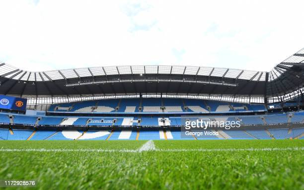 General view inside the stadium prior to the Barclays FA Women's Super League match between Manchester City and Manchester United at Etihad Stadium...