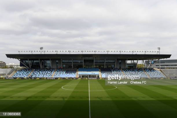 General view inside the stadium prior to the Barclays FA Women's Super League match between Manchester City Women and Chelsea Women at Manchester...