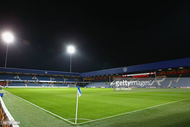 A general view inside the stadium prior to the Barclays Premier League match between Queens Park Rangers and Aston Villa at Loftus Road on October 27...