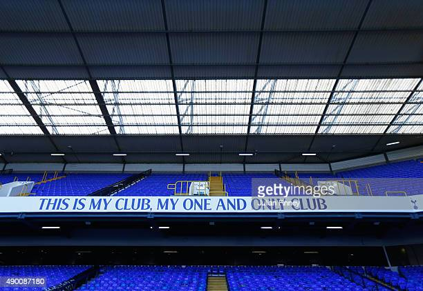 A general view inside the stadium prior to the Barclays Premier League match between Tottenham Hotspur and Manchester City at White Hart Lane on...