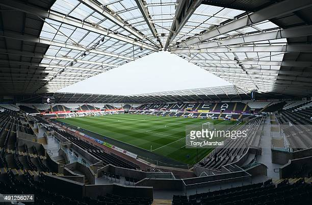 General view inside the stadium prior to the Barclays Premier League match between Swansea City and Tottenham Hotspur at Liberty Stadium on October...