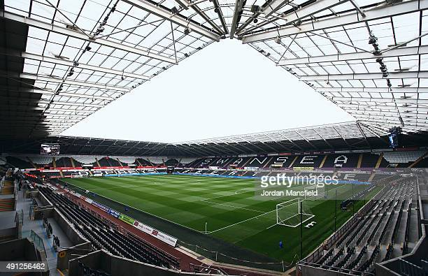 A general view inside the stadium prior to the Barclays Premier League match between Swansea City and Tottenham Hotspur at Liberty Stadium on October...