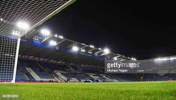 A general view inside the stadium prior to the Barclays Premier League match between Leicester City and Manchester City at The King Power Stadium on...