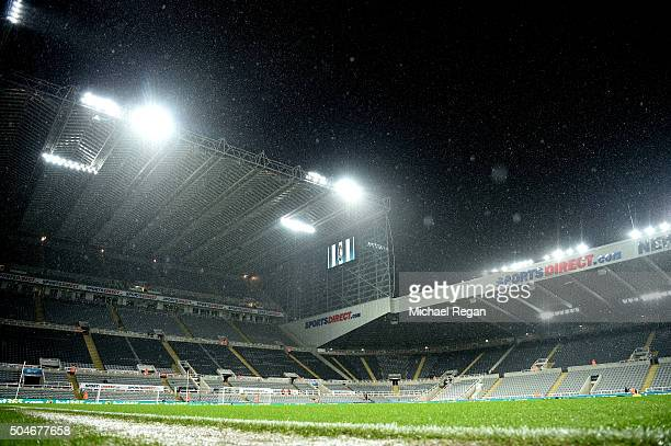A general view inside the stadium prior to the Barclays Premier League match between Newcastle United and Manchester United at St James' Park on...