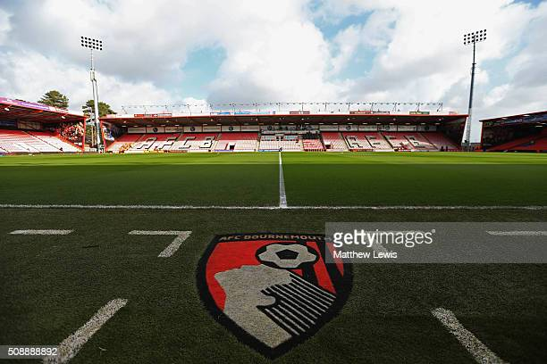 A general view inside the stadium prior to the Barclays Premier League match between AFC Bournemouth and Arsenal at the Vitality Stadium on February...