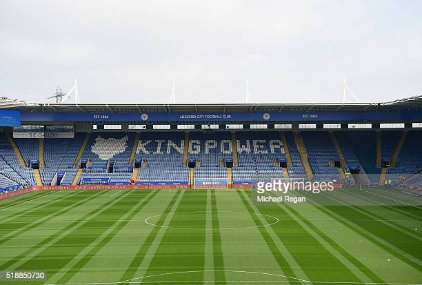 A general view inside the stadium prior to the Barclays Premier League match between Leicester City and Southampton at The King Power Stadium on...