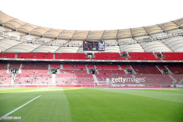 A general view inside the stadium prior to the Bundesliga match between VfB Stuttgart and FC Bayern Muenchen at MercedesBenz Arena on September 1...