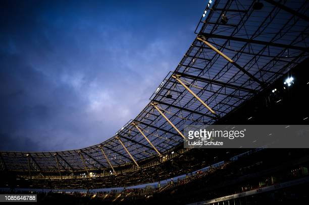 General view inside the stadium prior to the Bundesliga match between Hannover 96 and Fortuna Duesseldorf at HDIArena on December 22 2018 in Hanover...