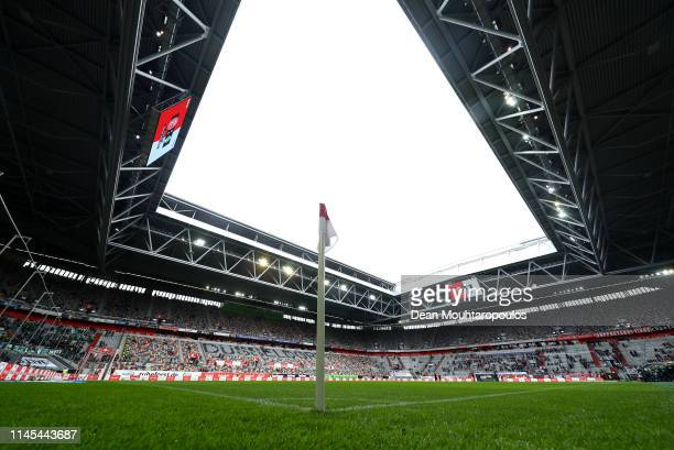 General view inside the stadium prior to the Bundesliga match between Fortuna Duesseldorf and SV Werder Bremen at Esprit-Arena on April 27, 2019 in...