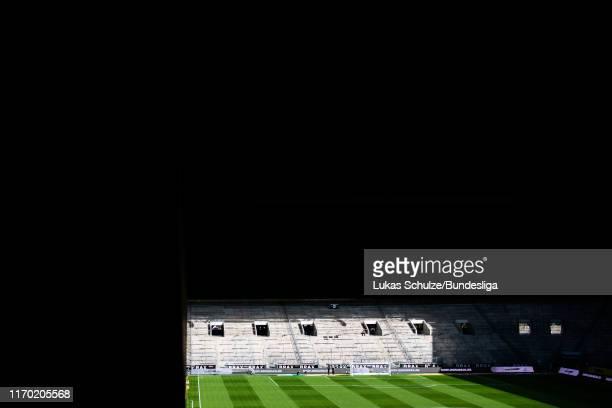 General view inside the stadium prior to the Bundesliga match between Borussia Mönchengladbach and Fortuna Düsseldorf at Borussia-Park on September...