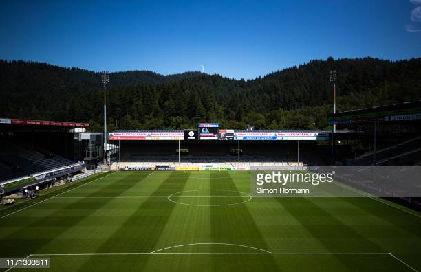 General view inside the stadium prior to the Bundesliga match between Sport-Club Freiburg and 1. FC Koeln at Schwarzwald-Stadion on August 31, 2019...