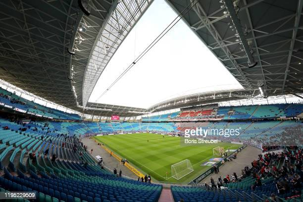 General view inside the stadium prior to the Bundesliga match between RB Leipzig and FC Augsburg at Red Bull Arena on December 21, 2019 in Leipzig,...