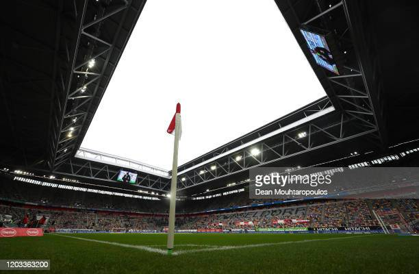 General view inside the stadium prior to the Bundesliga match between Fortuna Duesseldorf and Eintracht Frankfurt at Merkur SpielArena on February 01...