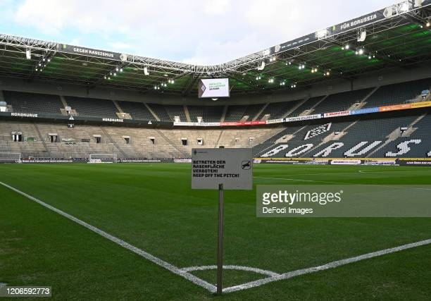 General view inside the stadium prior to the Bundesliga match between Borussia Moenchengladbach and 1. FC Koeln at Borussia-Park on February 9, 2020...
