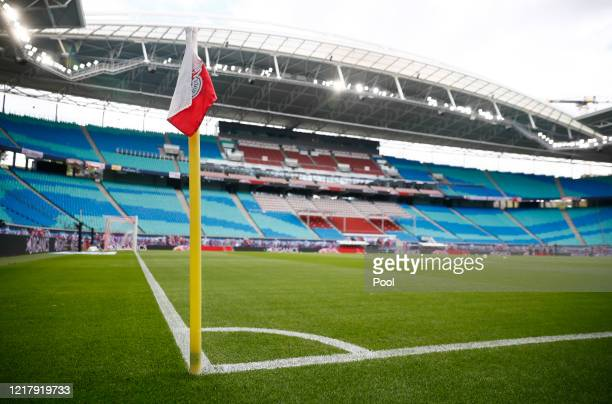 General view inside the stadium prior to the Bundesliga match between RB Leipzig and SC Paderborn 07 at Red Bull Arena on June 6, 2020 in Leipzig,...