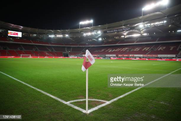 General view inside the stadium prior to the Bundesliga match between VfB Stuttgart and 1. FC Union Berlin at Mercedes-Benz Arena on December 15,...