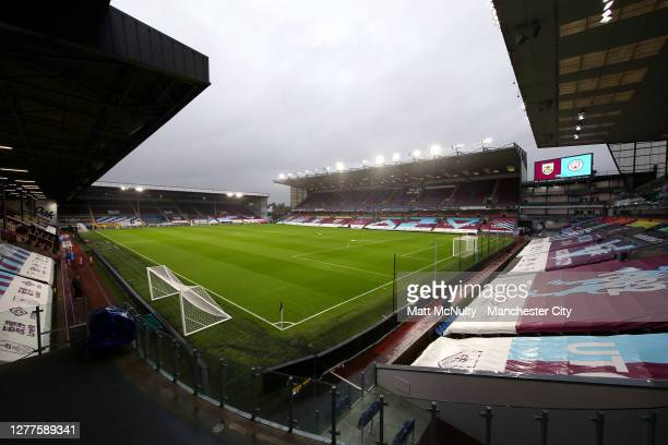 General view inside the stadium prior to the Carabao Cup fourth round match between Burnley and Manchester City at Turf Moor on September 30, 2020 in...