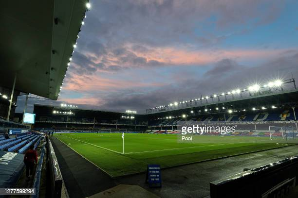 General view inside the stadium prior to the Carabao Cup fourth round match between Everton and West Ham United at Goodison Park on September 30,...