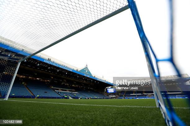 General view inside the stadium prior to the Carabao Cup Second Round match between Sheffield Wednesday and Wolverhampton Wanderers at Hillsborough...