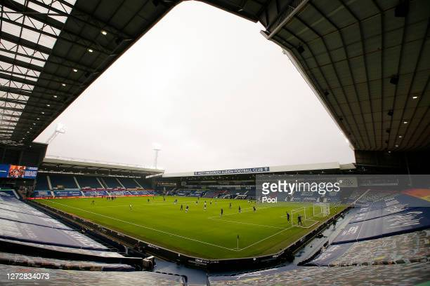 General view inside the stadium prior to the Carabao Cup Second Round match between West Bromwich Albion and Harrogate Town at The Hawthorns on...