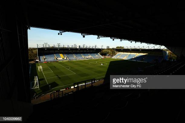 Josep Guardiola Manager of Manchester City looks on prior to the Carabao Cup Third Round match between Oxford United and Manchester City at Kassam...
