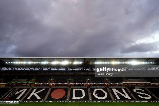 General view inside the stadium prior to the Carabao Cup Third Round match between Milton Keynes Dons and Liverpool FC at Stadium MK on September 25,...