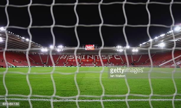 A general view inside the stadium prior to the EFL Cup semifinal first leg match between Southampton and Liverpool at St Mary's Stadium on January 11...
