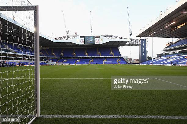A general view inside the stadium prior to the EFL Cup Third Round match between Tottenham Hotspur and Gillingham at White Hart Lane on September 21...