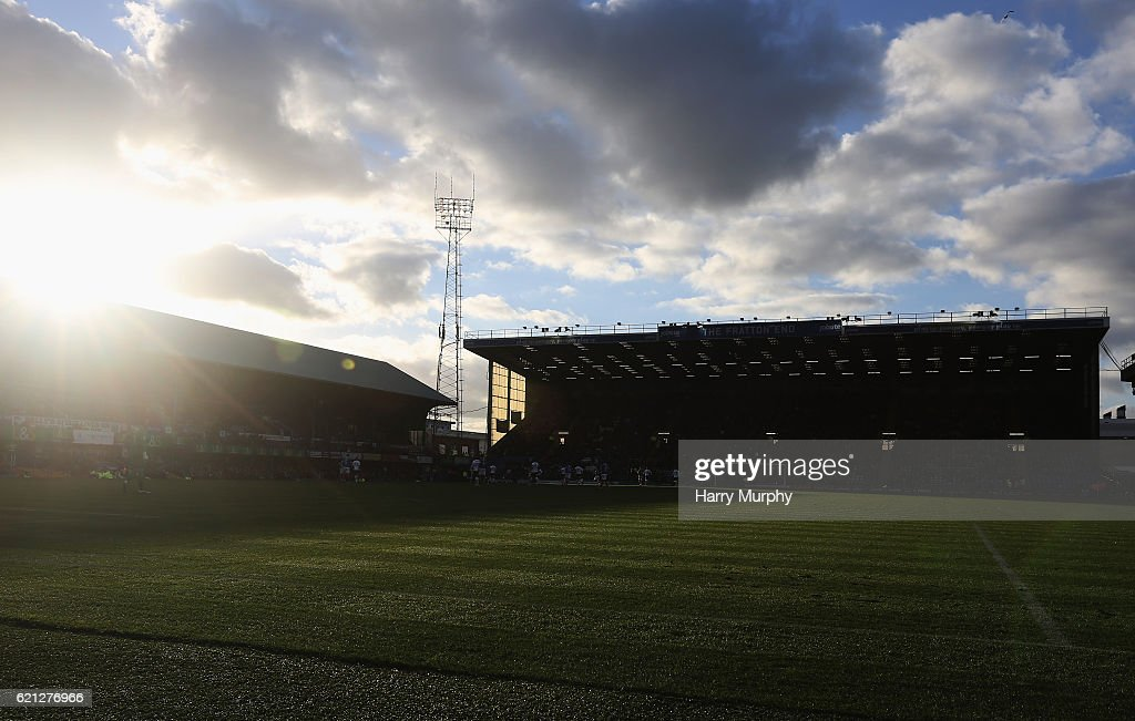 A general view inside the stadium prior to the Emirates FA Cup First Round match between Portsmouth and Wycombe Wanderers at Fratton Park on November 5, 2016 in Portsmouth, England.