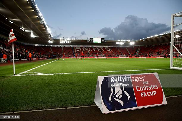 A general view inside the stadium prior to the Emirates FA Cup Fourth Round match between Southampton and Arsenal at St Mary's Stadium on January 28...