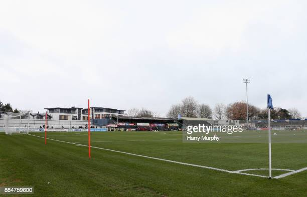 A general view inside the stadium prior to the Emirates FA Cup Second Round match between Woking and Peterborough United at the Laithwaite Community...