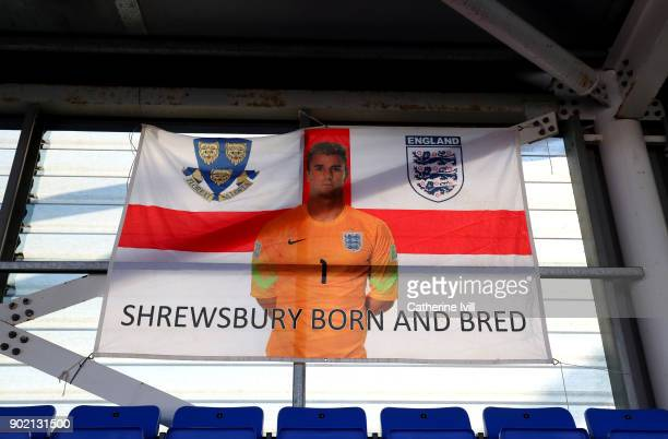 A general view inside the stadium prior to The Emirates FA Cup Third Round match between Shrewsbury Town and West Ham United at New Meadow on January...