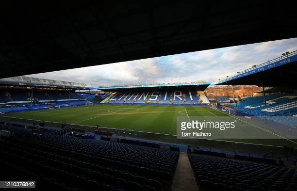General view inside the stadium prior to the FA Cup Fifth Round match between Sheffield Wednesday and Manchester City at Hillsborough on March 04...