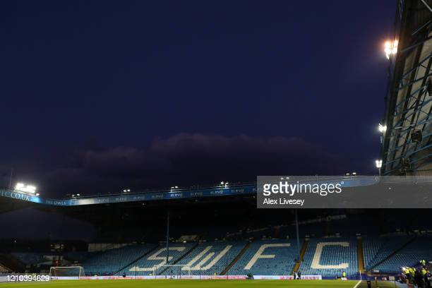 General view inside the stadium prior to the FA Cup Fifth Round match between Sheffield Wednesday and Manchester City at Hillsborough on March 04,...
