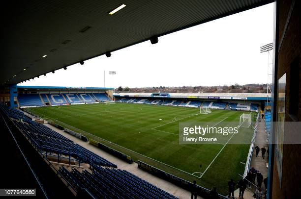 General view inside the stadium prior to the FA Cup Third Round match between Gillingham and Cardiff City at Priestfield Stadium on January 5, 2019...