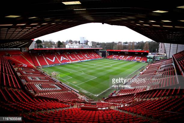 General view inside the stadium prior to the FA Cup Third Round match between Charlton Athletic and West Bromwich Albion at The Valley on January 05,...