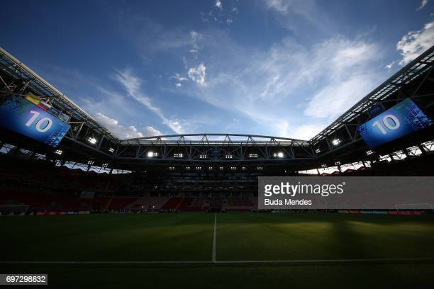 General view inside the stadium prior to the FIFA Confederations Cup Russia 2017 Group B match between Cameroon and Chile at Spartak Stadium on June...