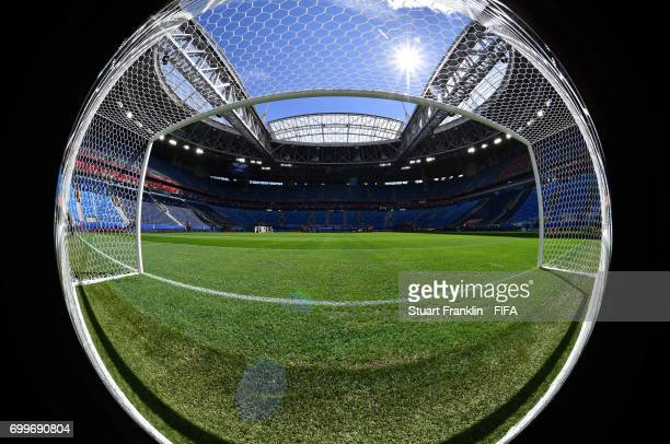 General view inside the stadium prior to the FIFA Confederations Cup Russia 2017 Group B match between Cameroon and Australia at Saint Petersburg...
