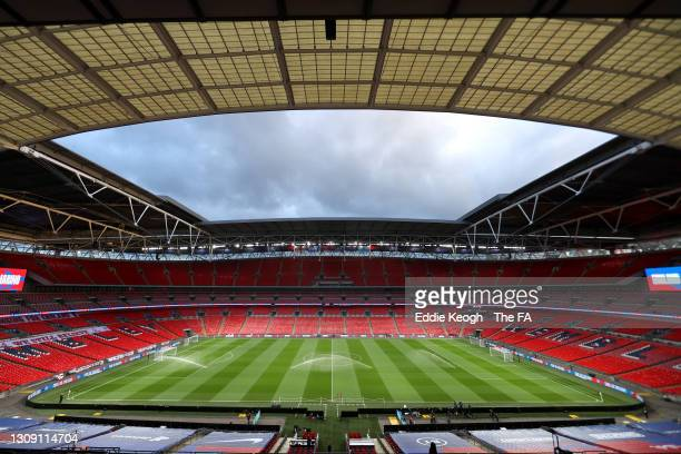 General view inside the stadium prior to the FIFA World Cup 2022 Qatar qualifying match between England and San Marino at Wembley Stadium on March...