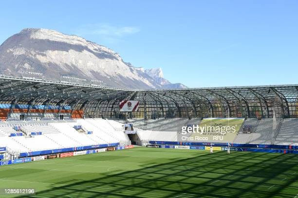 General view inside the stadium prior to the France Women v England Women Autumn International series match at Stade des Alpes on November 14, 2020...