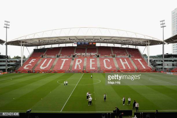 General view inside the stadium prior to the Group B match between Russia and Germany during the UEFA Women's Euro 2017 at Stadion Galgenwaard on...