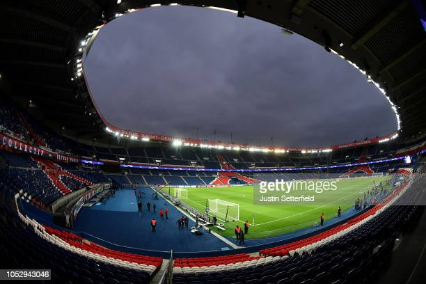 General view inside the stadium prior to the Group C match of the UEFA Champions League between Paris SaintGermain and SSC Napoli at Parc des Princes...